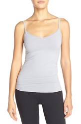 Women's Nordstrom Lingerie Lace Trim Two Way Seamless Camisole Grey Sleet