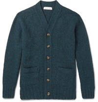 Several Palmer Slim Fit Melange New Wool Cardigan Petrol