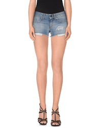 Dirk Bikkembergs Sport Couture Denim Denim Shorts Women Blue