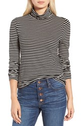 J.Crew Women's Stripe Tissue Turtleneck Tee