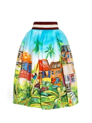 Stella Jean Cammello Printed Cotton Skirt