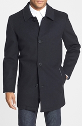 Vince Camuto Water Repellent Wool Blend Car Coat Black
