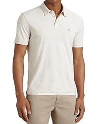 John Varvatos Star Usa Heathered Peace Slim Fit Polo Shirt Ecru