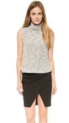 L'agence Sleeveless Pullover Ivory Black