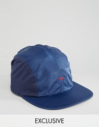 Fila Cap In Nylon With Mesh Panels Exclusive To Asos Navy