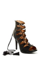 Elegant Footwear Amanda Lace Up Heel Black