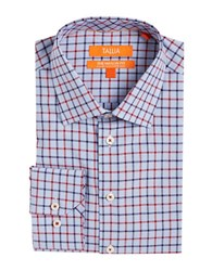 Tallia Orange Plaid Dress Shirt Red