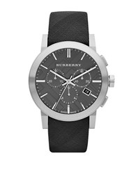 Burberry Mens The City Stainless Steel Watch Black