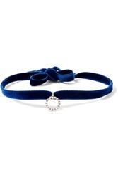 Dannijo Vix Oxidized Silver Plated Navy