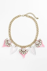 Cara Accessories Cara Crystal And Resin Statement Necklace Purple