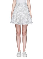 Nicholas Floral Lace Flare Skirt White