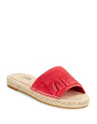 Karl Lagerfeld Euler Suede Espadrille Sandals Red