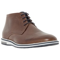 Dune Cape Cod Wedge Sole Leather Chukka Boots Tan