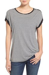 Vince Camuto Women's Two By 'Anchor Stripe' Print Front Tee Grey Heather