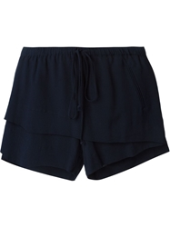 Lost And Found Layered Drawstring Shorts Blue