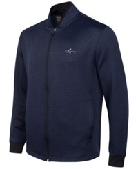 Greg Norman For Tasso Elba Hydrotech Zip Fleece Jacket Only At Macy's Night Sky Heather