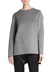 Akris Angora Wool And Cashmere Top Grey