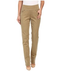 Jag Jeans Peri Pull On Straight Bay Twill Toffee Women's Casual Pants Brown