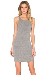 Enza Costa Rib Sheath Tank Baseball Dress Gray