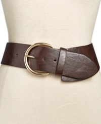 Style And Co. Asymetrical Stretch Belt Brown