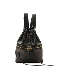 Marni Mini Leather Drawstring Backpack Dark Gray