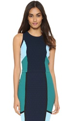Jonathan Simkhai Colorblock Crop Top Navy Teal