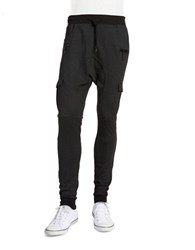 American Stitch Patterned Cargo Joggers Charcoal
