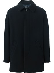 A.P.C. Short Single Breasted Coat Blue