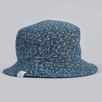 Norse Projects Reversible Discharge Bucket Hat Indigo 4 Dots