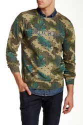 Scotch And Soda Dandy Printed Crew Neck Sweater Green