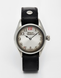 Vivienne Westwood Leather Strap Watch Vv012bk Black