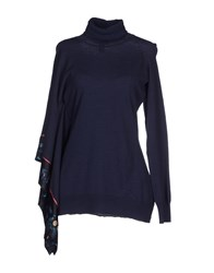 Class Roberto Cavalli Knitwear Turtlenecks Women Blue