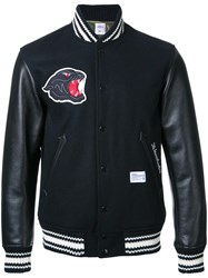 Bedwin And The Heartbreakers Padded Varsity Jacket Black