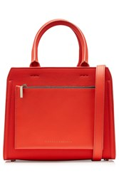 Victoria Beckham Leather City Bag Red