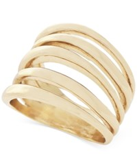 Bcbgeneration Gold Tone Multi Row Statement Ring