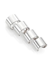 Maison Martin Margiela Knuckle Duster Four Band Ring Set Silvertone