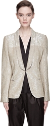 Maison Martin Margiela Light Khaki Sequined Prince Of Wales Blazer
