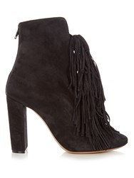 Chloe Maya Suede Ankle Boots Grey