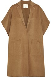 Tibi Wool Blend Felt Cape Brown