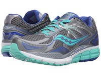Saucony Echelon 5 Grey Mint Blue Women's Running Shoes Gray