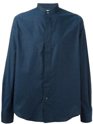 Paul Smith Ps By Band Collar Shirt Blue