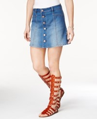 American Rag Button Down A Line Denim Skirt Only At Macy's Calah Wash