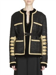 Givenchy Military Wool Blend Buttoned Jacket Black