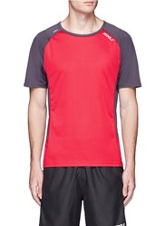 2Xu 'Ice X' Reflective Logo Print Performance T Shirt Red