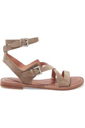 Sigerson Morrison Ainsley Suede Sandals Green