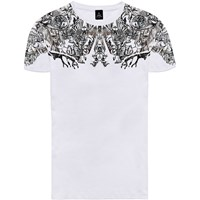 Raddar7 Untraceable Graphic All Over Print Tee White