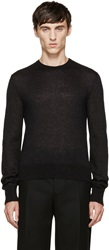 Calvin Klein Black Mohair Sweater