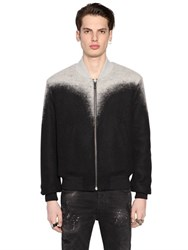 Marcelo Burlon Zapaleri Brushed Wool Bomber Jacket