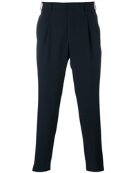Pal Zileri Elasticated Cuff Trousers Blue