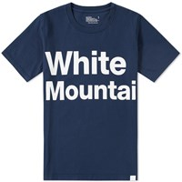 White Mountaineering Logo Print Tee Blue